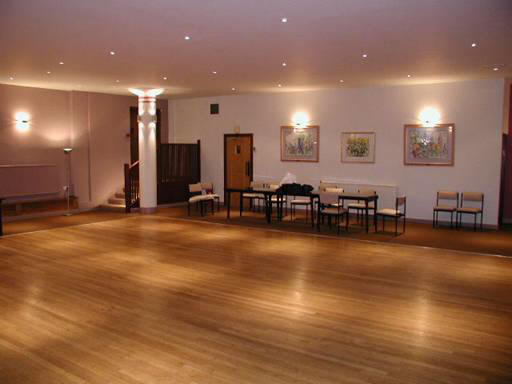 Photograph of the inside of the Jewish Community Centre Hall