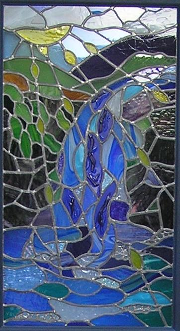 Photograph of the Mikveh Stained Glass Window
